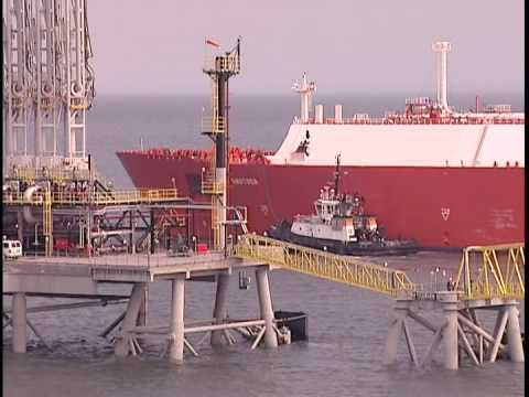 First LNG Ship Unloading