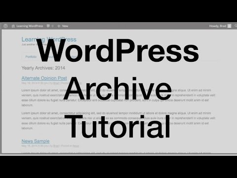 WordPress Archive Tutorial (archive.php) - YouTube