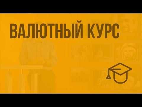 Валютный курс. Видеоурок по обществознанию 11 класс