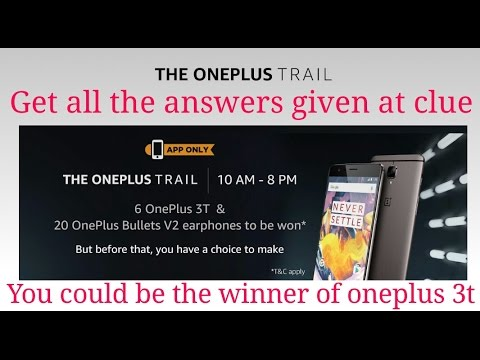 get-free-oneplus-3t-and-oneplus-bullet-v2-earphone-by-entering-the-contest-by-amazon-app