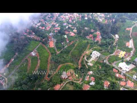 Coimbatore - Nilgiri hills on outskirts in Tamil Nadu: South India aerial journey