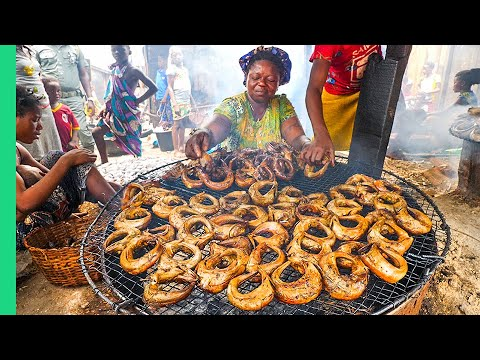 Eating in Africa's Biggest Floating Slum!! Seafood Factories!!