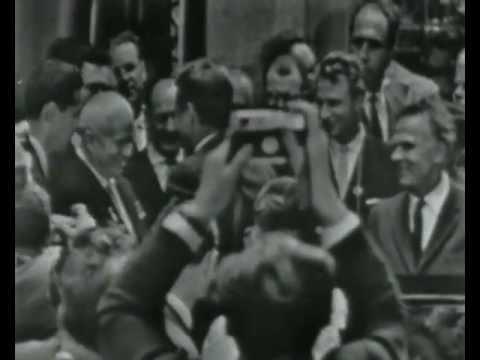 John F. Kennedy meeting Russian leader Nikita Khruschev