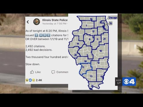 Illinois State Police Warns Of Excessive Speeding 'epidemic'