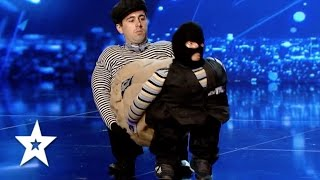 Ion Dascal's Incredible Cops v Robber Audition | Auditions Week 1 | Românii au talent