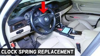 HOW TO REMOVE AND REPLACE CLOCK SPRING ON BMW E90 E92 E91 E93
