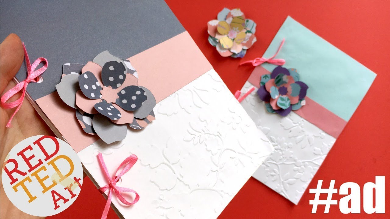 How to make an embossed notebook paper flower with the big shot how to make an embossed notebook paper flower with the big shot foldaway by sizzix sponsored mightylinksfo