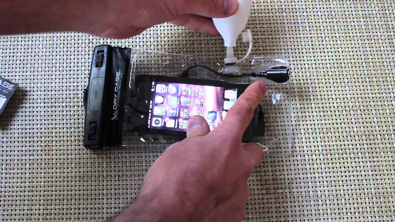 save off fe23c e08f1 Dry Case Waterproof Phone Case Vacuum Seal, Video Test