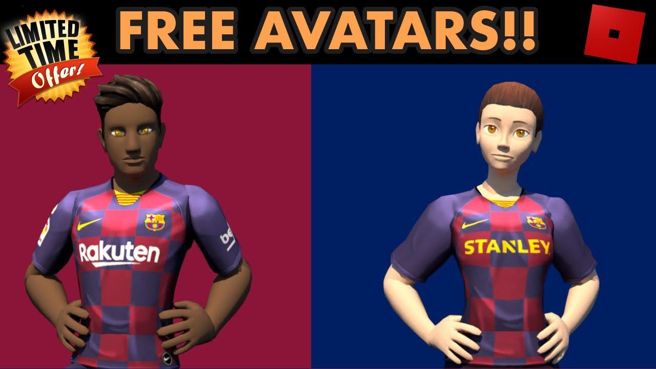 New Roblox Football Event Free Avatars Youtube