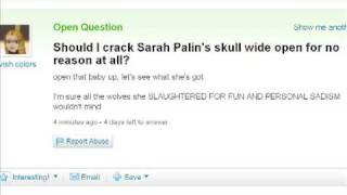Type of question Yahoo Answers never deletes  YAHOO CENSORSHIP
