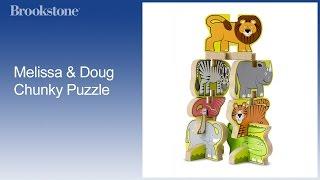 Melissa & Doug Toys Stacking Wooden Chunky Puzzle - Santa's Sleigh Puzzle