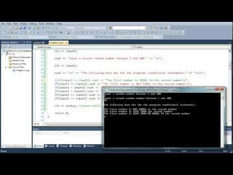 "C++ Programming Tutorial Part 3 - Conditional ""if"" Statement"
