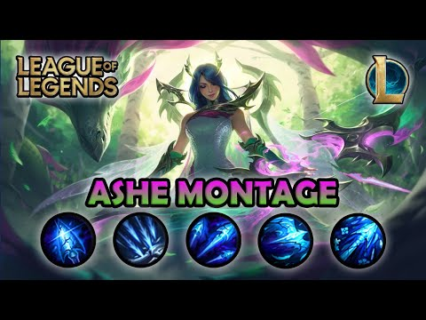 ASHE MONTAGE - Best ADC Ashe Plays | Fae Dragon Ashe Skin