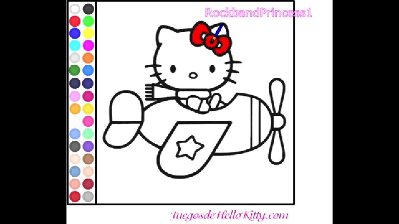 hello kitty online games hello kitty coloring game youtube