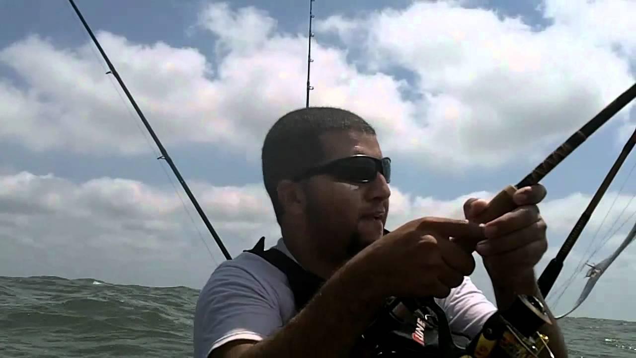 Fishing rig off surfside texas youtube for Surfside fishing report