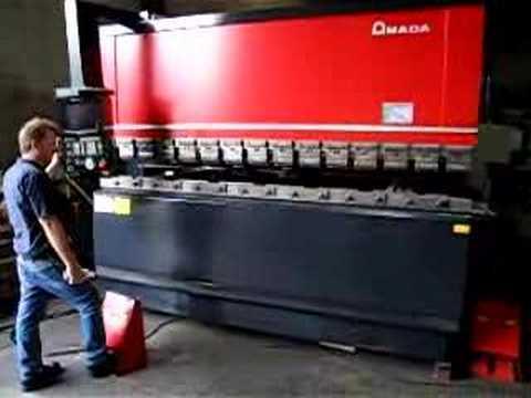 amada cnc hydraulic press brake up acting mdl fbd 1030f youtube rh youtube com