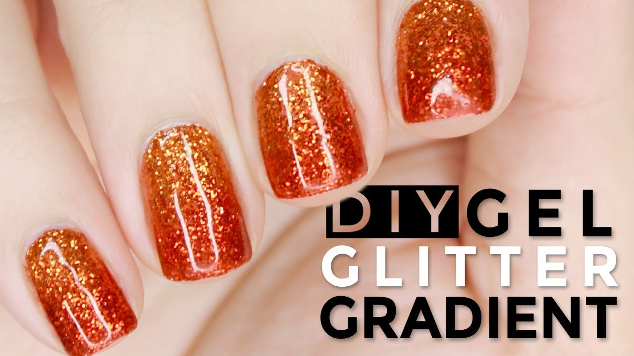How To Diy Glitter Grant Gel Nails With Loose Like A Pro