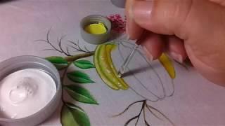 Aprenda a Pintar Carambolas em Tecido