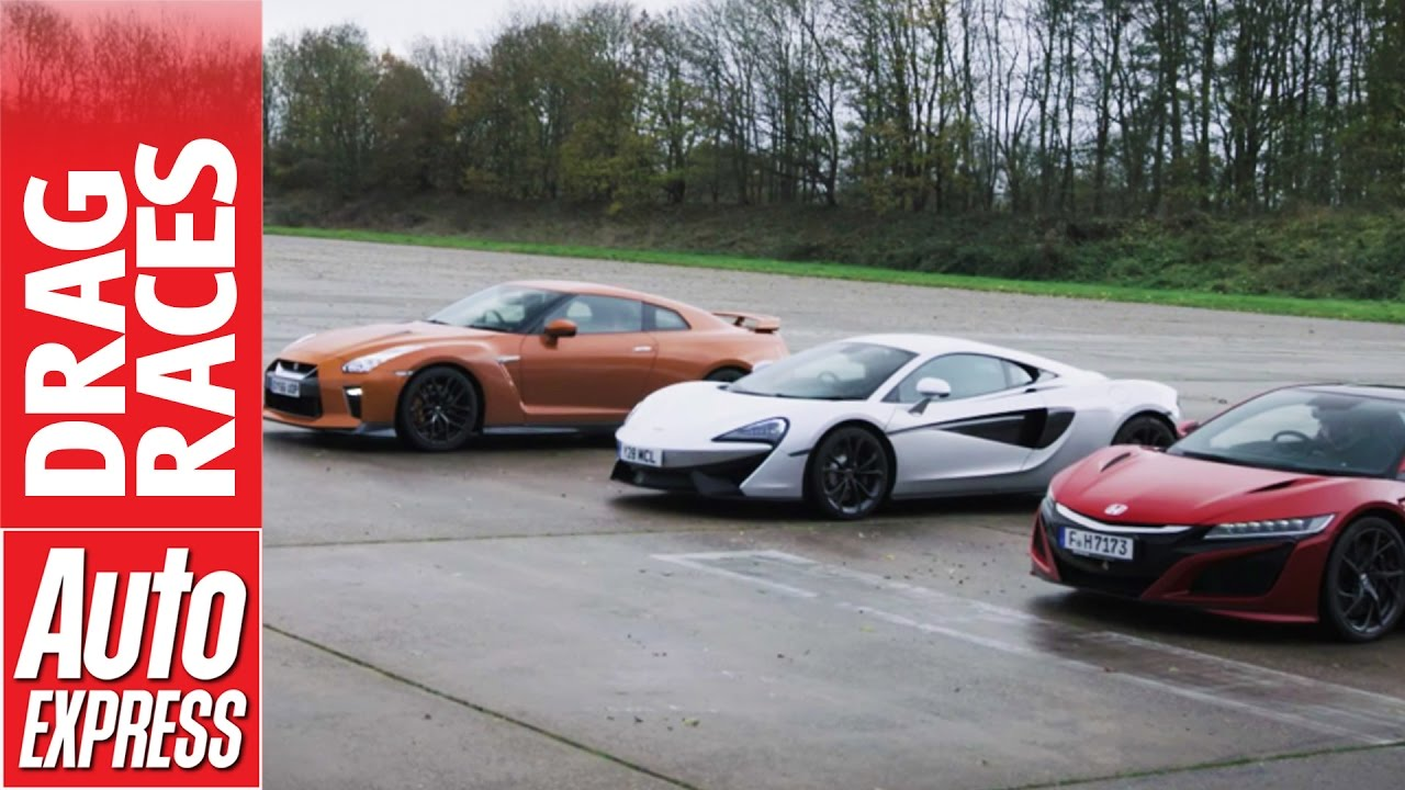 McLaren 540C vs Honda NSX vs Nissan GT R drag race: plucky Brit takes on Japanese beasts