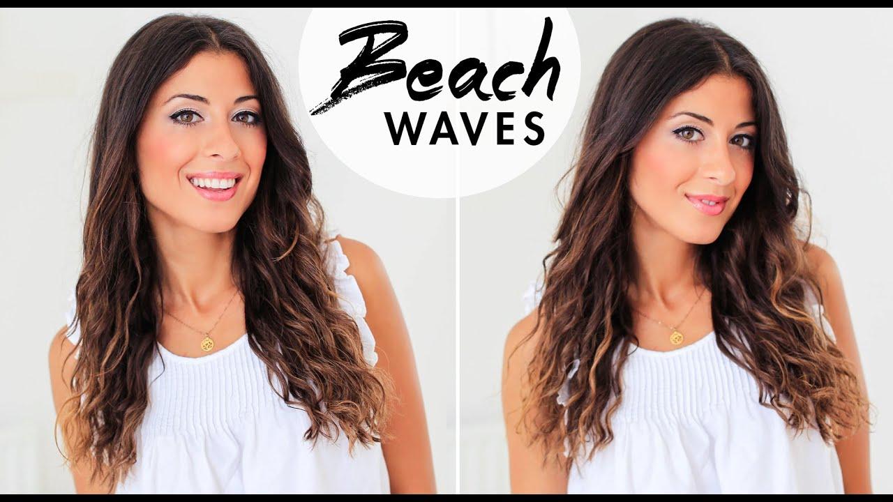 5 Minute Beach Waves | Luxy Hair - YouTube