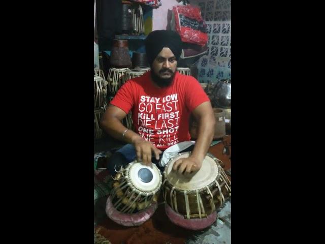 check new tabla in manoj tabla maker shop ludhiana