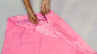 Saree peticot cutting and stitching, नेट या बारीख साड़ी के लिए पेटिकोट कैसे बनाएं, Fish cut peticot