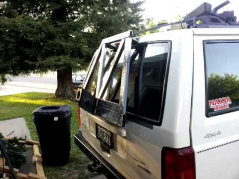 01 Xj Hatch Spare Tire Carrier Youtube