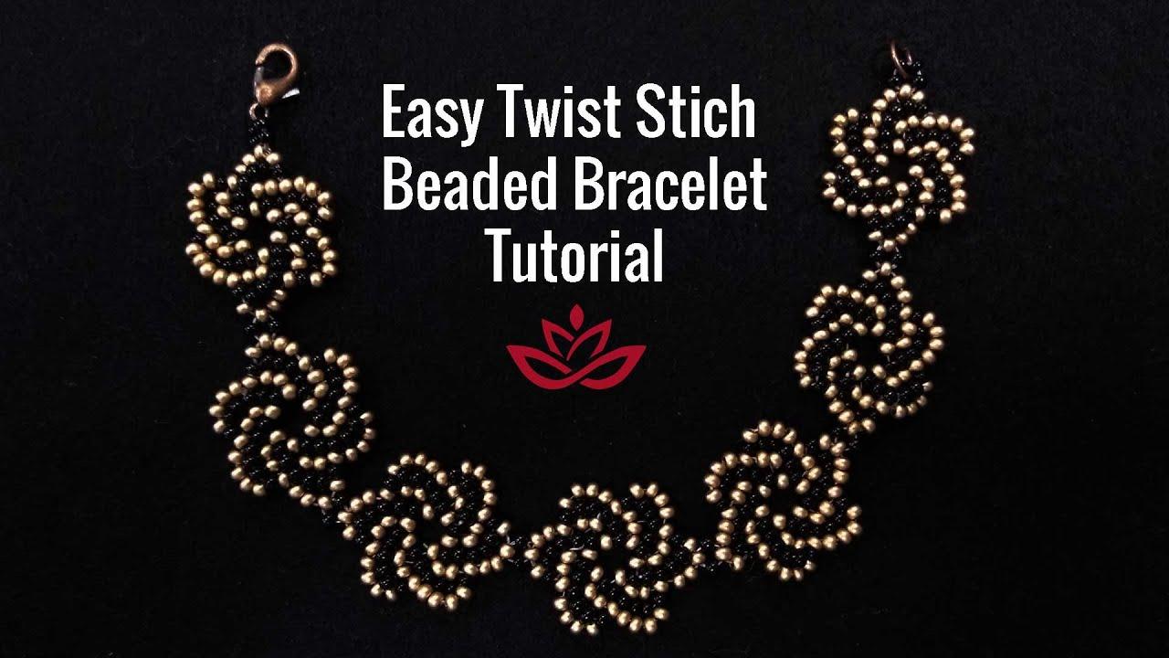 Easy Twist Stich Beaded Bracelet - Tutorial. How to make beaded bracelet?