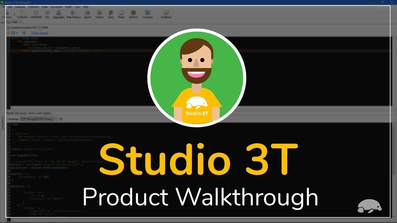 Studio 3T's Main Features | Studio 3T - The GUI for MongoDB