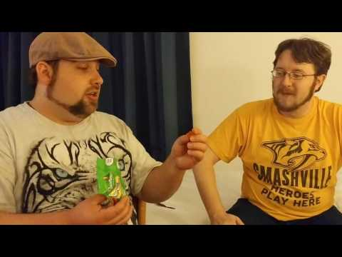 Two Americans trying English Candy