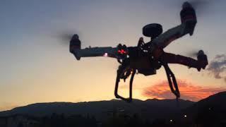 Quadcopter Hover Test Flight. Tetovo - Macedonia