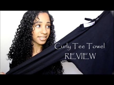 curly hair styling tip dry your hair w the curly tee