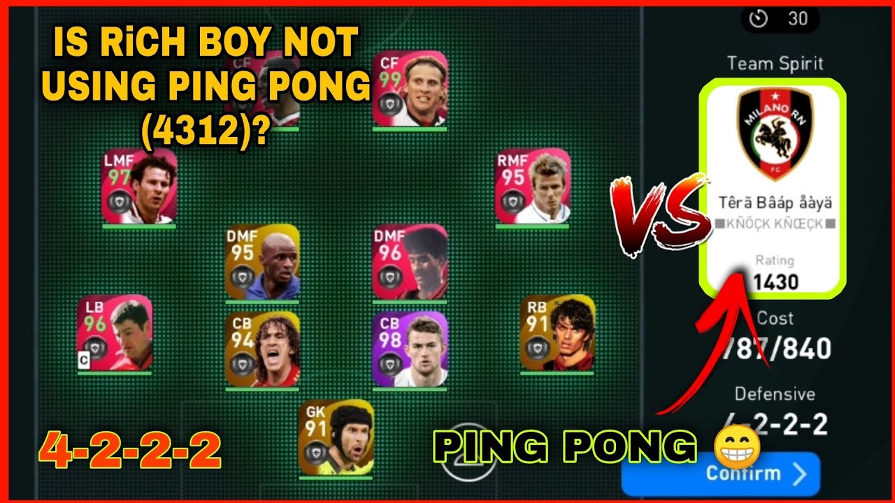 Download LMF/RMF WING PLAY FOR YOU | VS PING PONG 😂 | RiCH BOY [english] Pes 21