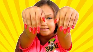 Learn colors nails made of plasticine! Children's song!