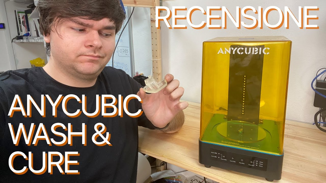 Pulire e solidificare le stampe 3D in resina: Recensione Anycubic Wash & Cure