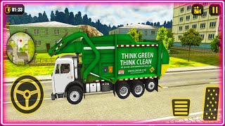 Garbage Truck Driver Simulator 2021 - Dump Truck Collecting Trash -  Android Gameplay 2021