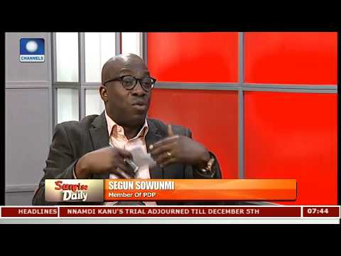 PDP's Sowunmi Engages Adesina On Party's Midterm Scorecard Pt.2 |Sunrise Daily|