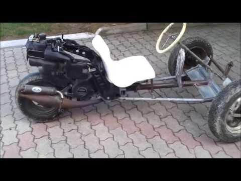 Go Kart Artigianale (homemade 3 Wheel Go Kart)