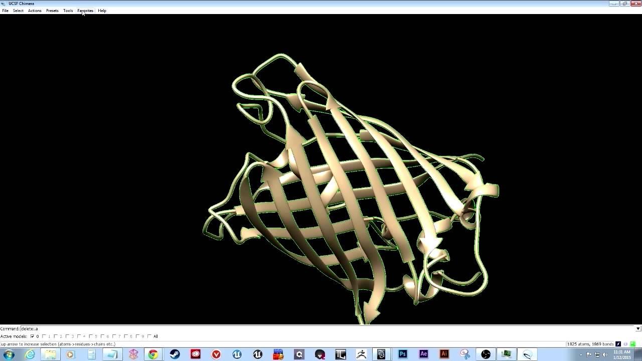 1  Creating and customizing molecular ribbon models in chimera - YouTube