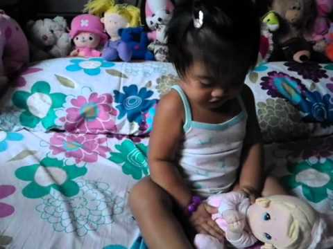 Stacey Dale Resultay (playing stuff toy)