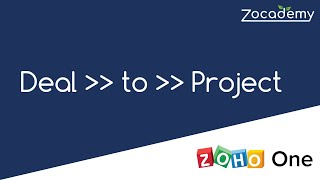 2020: Automagically Create a Zoho Project when Zoho CRM Deal is Won