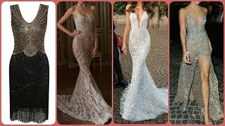 New Latest Party Wear long Bodycon Fishtail Maxi Dress Designs For Ladies 2019