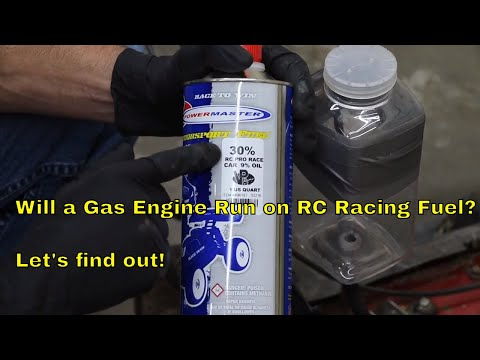 Will a Gas Engine Run on RC Racing Fuel?  Let's find out!