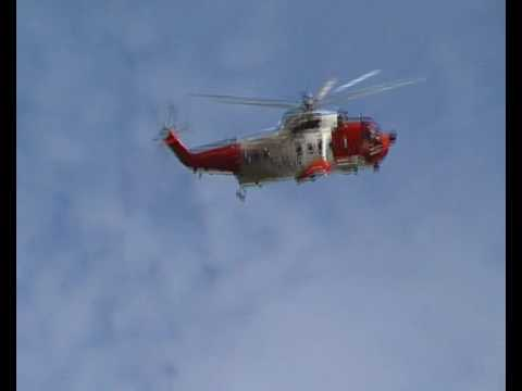 Irish Coast Guard Search and Rescue Helicopter at Castlewellan Forest Park Co Down N. Ireland