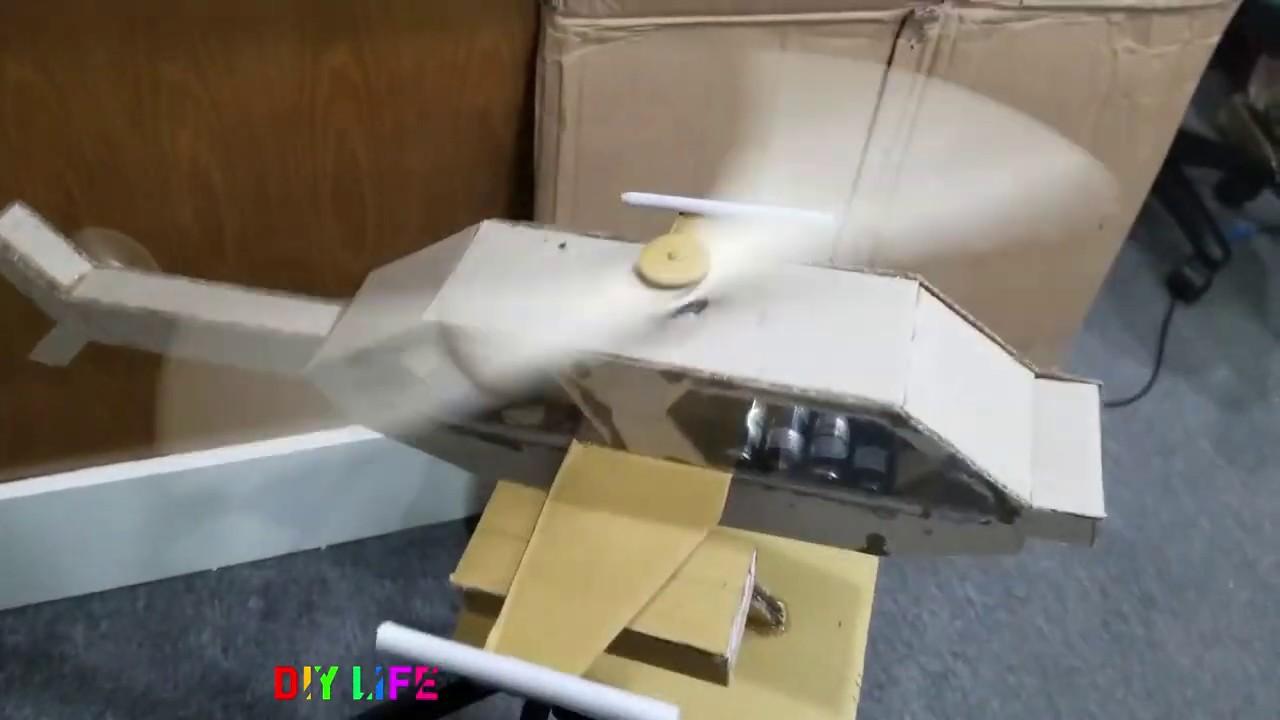 Chế tạo máy bay đồ chơi bằng bìa các tông carton mô hình