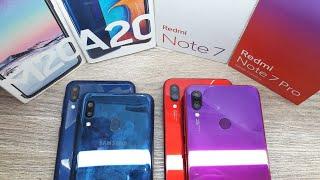 Redmi Note 7 vs Redmi note 7 Pro vs Galaxy A20 vs Galaxy M20 - Which Should You Buy ?