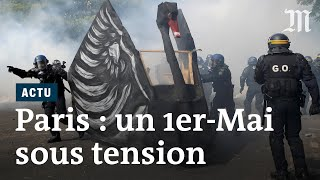 1er-Mai à Paris : les images d'une manifestation inhabituelle