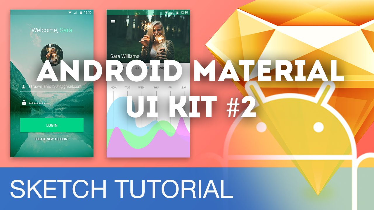 Sketch 3 Tutorial • Android Material UI Kit #2 - UpLabs