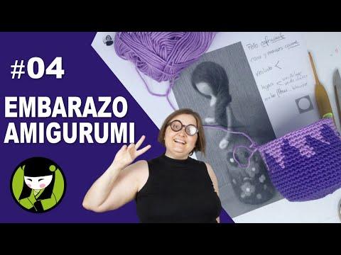 SEÑORA EMBARAZADA TEJIDA A CROCHET 04 tapestry en amigurumi