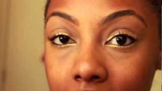 """Sparkling """"Gold Leaf"""" Eyeliner Tutorial Thumbnail"""